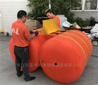 1.2米组合式拦污漂管线拦污排现场安装