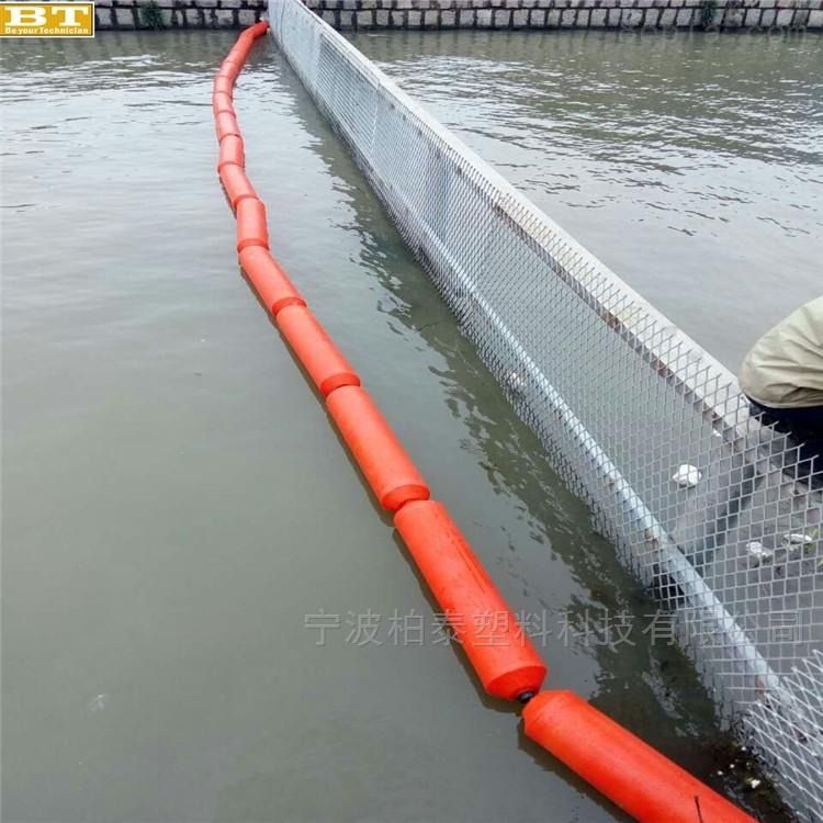 水面杂草垃圾拦住浮筒 水葫芦清理设备浮筒